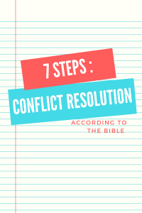 biblical conflict resolution