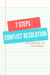 biblical conflict resolution